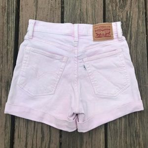 🌸 Levi's Wedgie Shorts High Rise Cuffed Lilac New